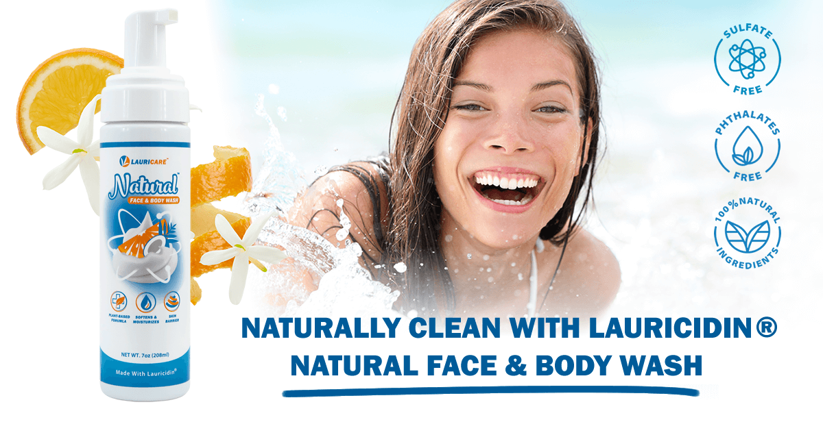 Enjoy the benefits of switching to Lauricidin Natural Face & Body Lotion